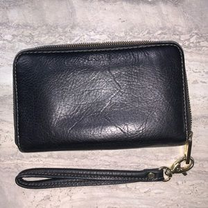 fossil black wallet